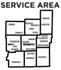 Dumpster rental service areas